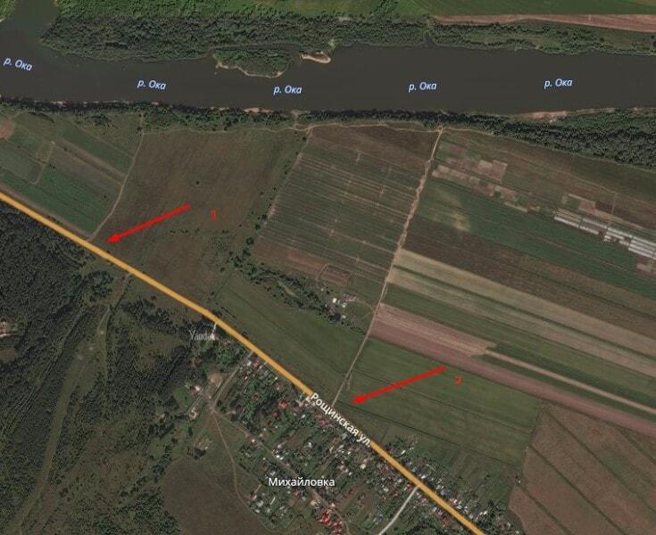 Подъезд к реке Оке в серпуховском районе