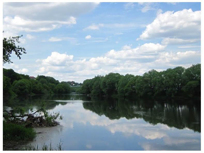 🐹 Рыболовные места в Подмосковье, река Пахра, Зеленовский омут