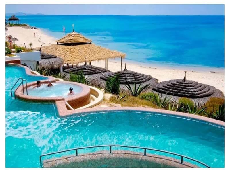 Карта отелей и курортов Туниса