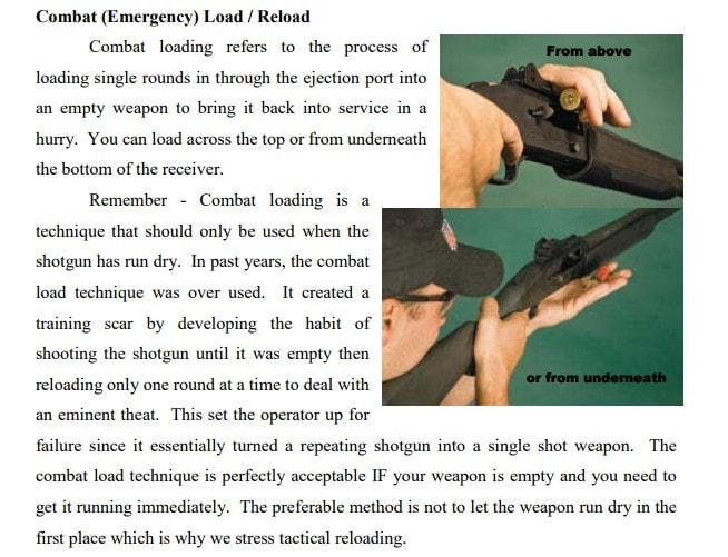 Скоростная перезарядка помповых ружей