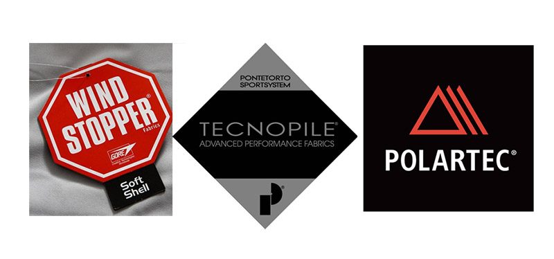 Логотипы производителей флиса