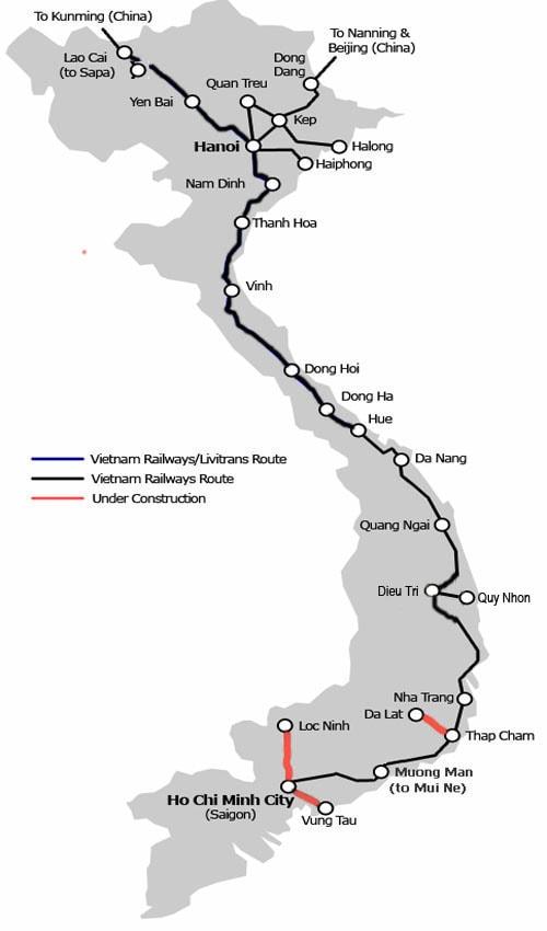 Поезд Хошимин-Нячанг