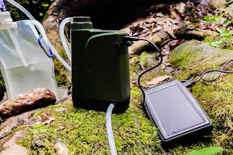 Фильтр с электрической помпой